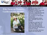 why focus on women s cardiovascular health