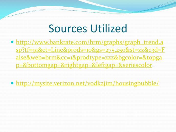 Sources Utilized