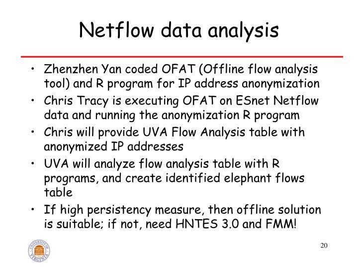 Netflow data analysis