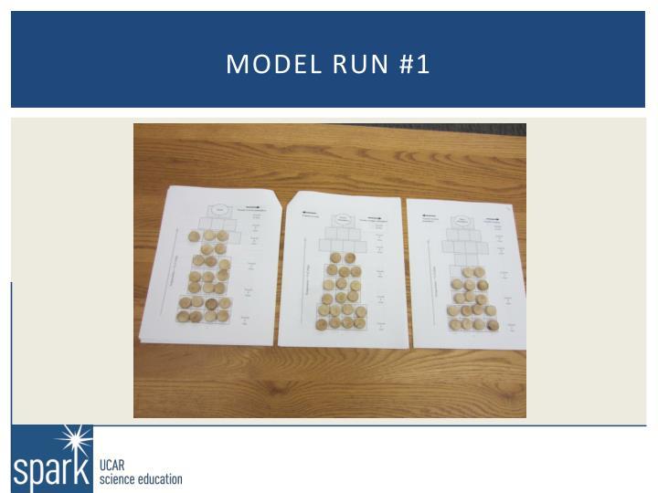 Model run #1