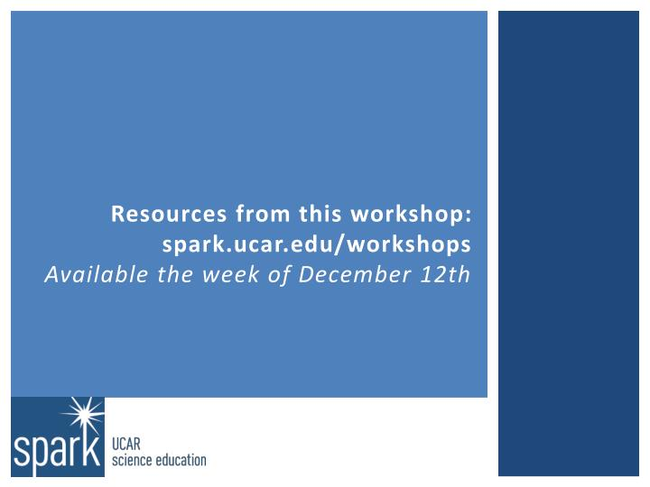 Resources from this workshop: