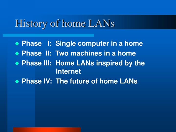 History of home lans