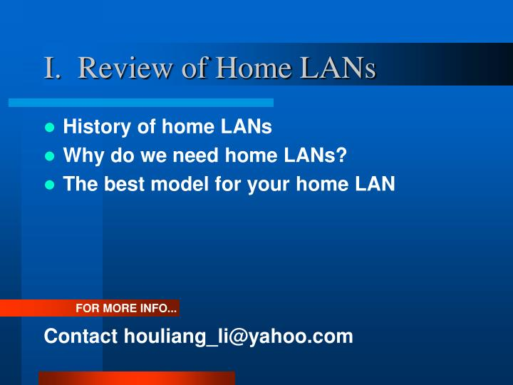 I review of home lans