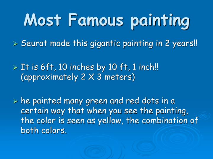 Most Famous painting