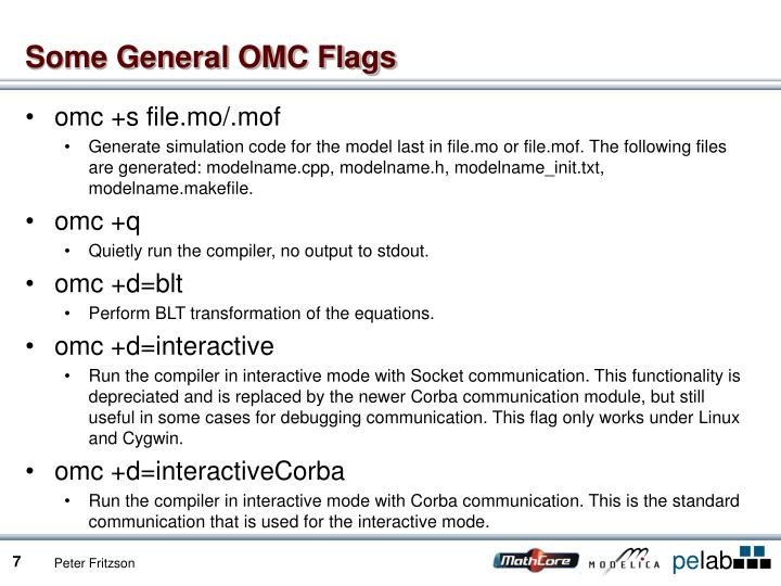 Some General OMC Flags
