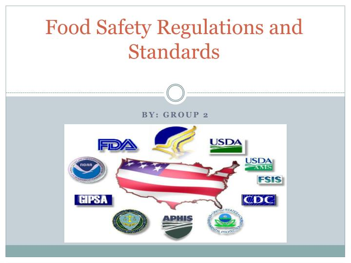 food safety regulations and standards n.