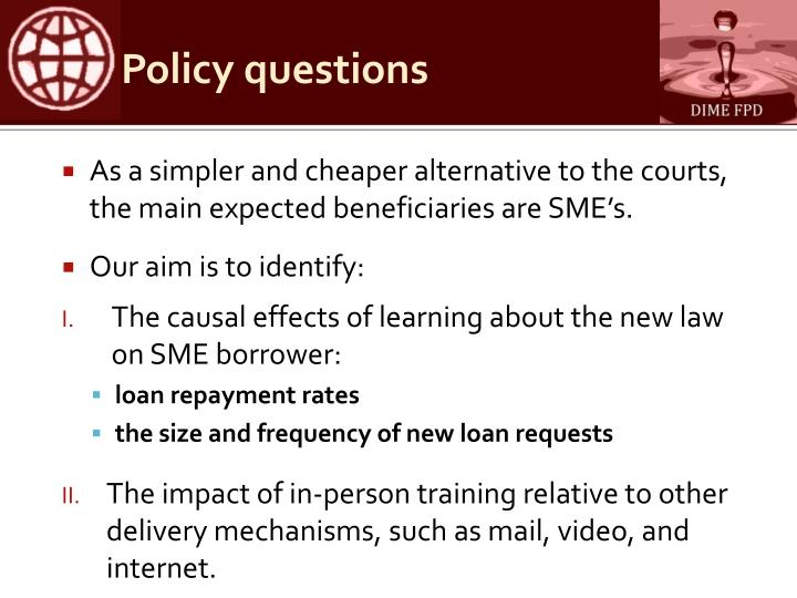 Policy questions1