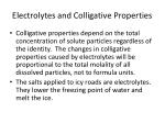 electrolytes and colligative properties