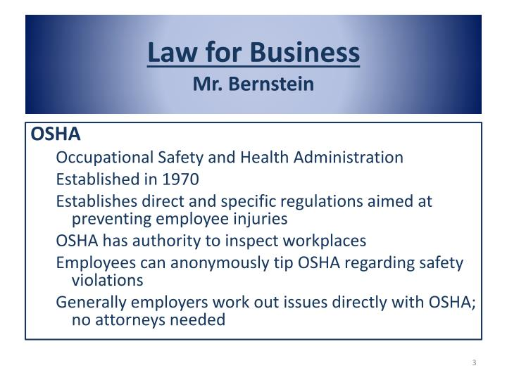 Law for business mr bernstein1