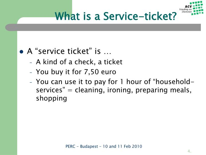 What is a Service-ticket?
