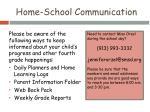 home school communication