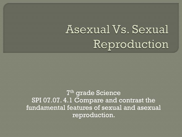 asexual vs sexual reproduction n.