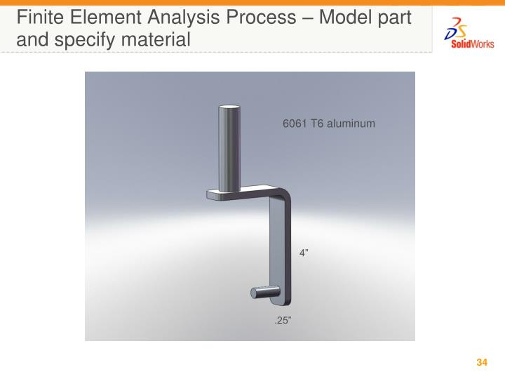 a finite element analysis model for