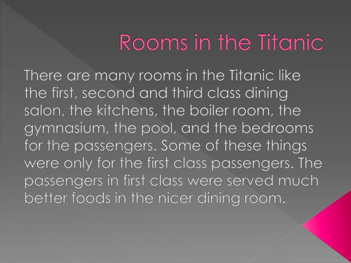 Rooms in the titanic