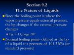 section 9 2 the nature of liquids15