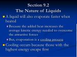 section 9 2 the nature of liquids7