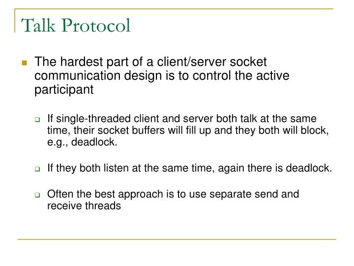 Talk Protocol