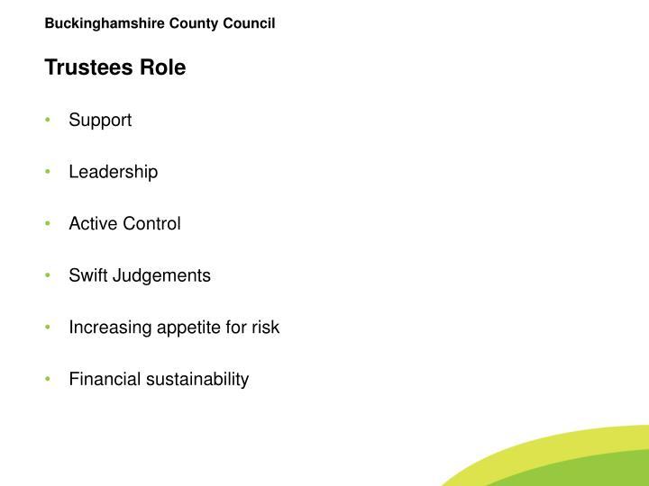 Trustees Role