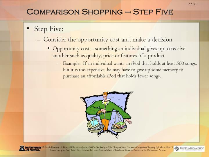 Comparison Shopping – Step Five