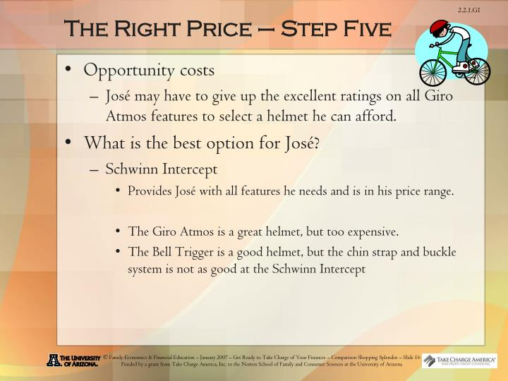 The Right Price – Step Five