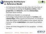 enterprise architecture vs reference model