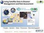 using satellite data in disaster management and risk assessment