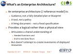 what s an enterprise architecture1