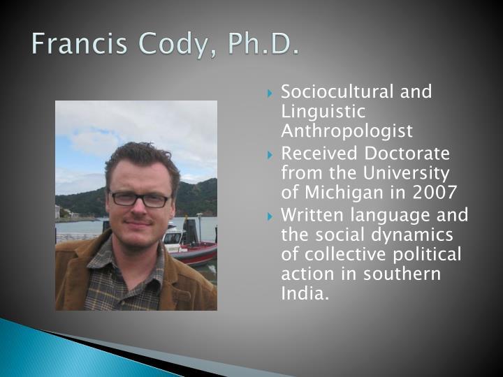 Francis cody ph d