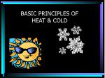 basic principles of heat cold