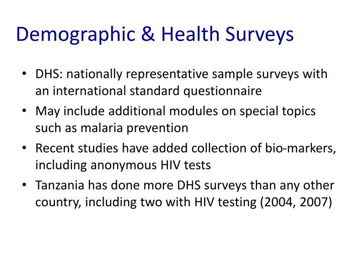 Demographic & Health Surveys