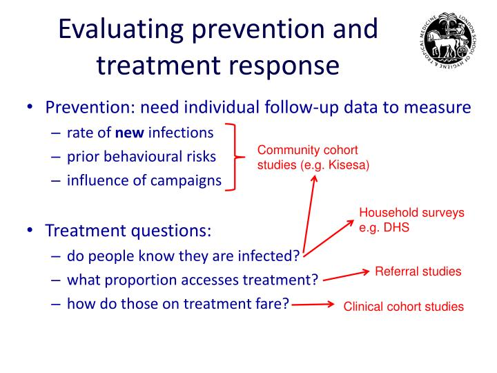 Evaluating prevention and treatment response