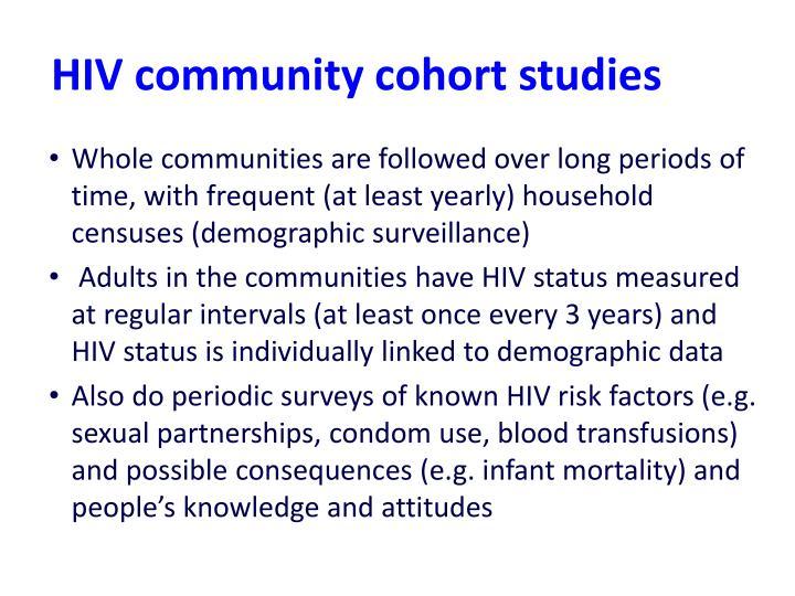 HIV community cohort studies