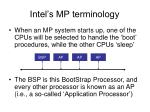 intel s mp terminology