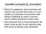 parallel computing principles