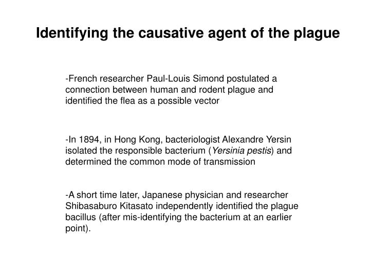 Identifying the causative agent of the plague
