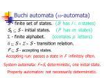 buchi automata w automata