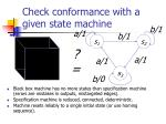 check conformance with a given state machine