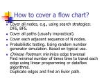 how to cover a flow chart