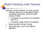 model checking under fairness3