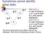 sometimes cannot identify initial state