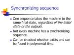 synchronizing sequence