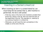inserting in a sorted linked list