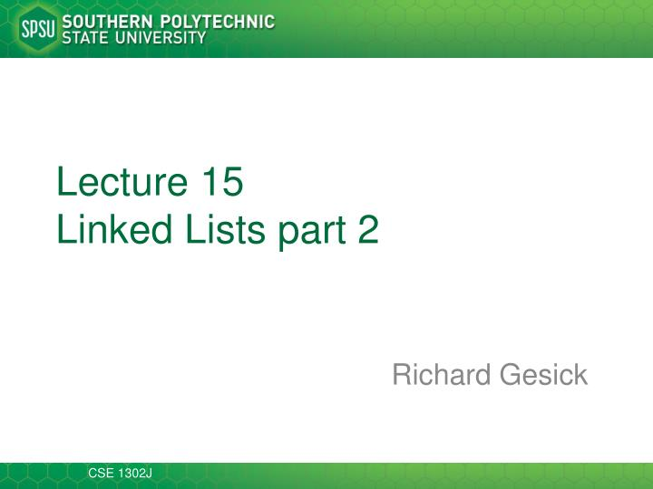 lecture 15 linked lists part 2 n.