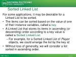 sorted linked list