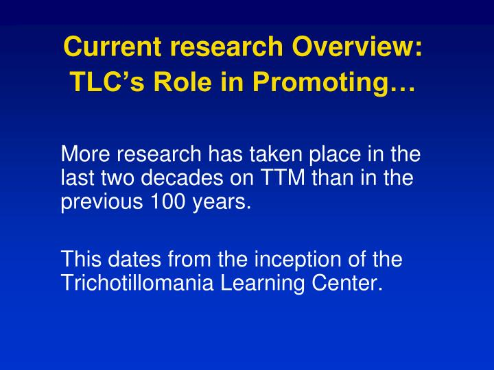 Current research Overview: