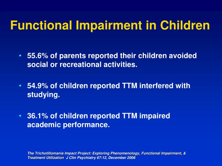 Functional Impairment in Children