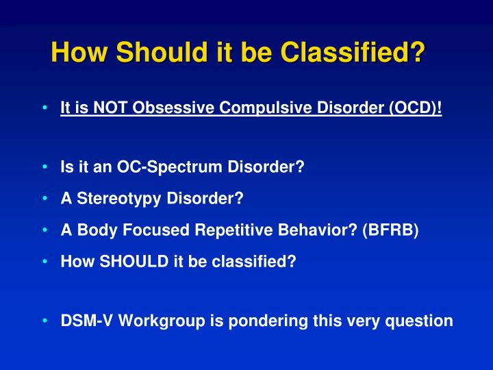 How Should it be Classified?