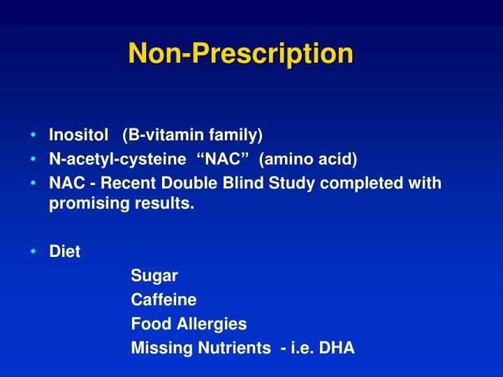 Non-Prescription