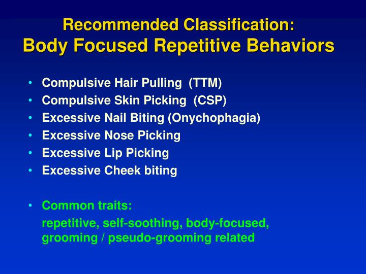 Recommended Classification: