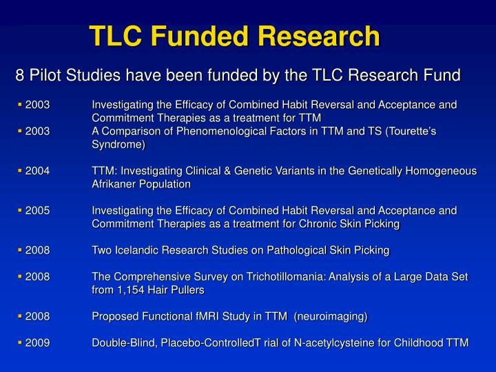 TLC Funded Research